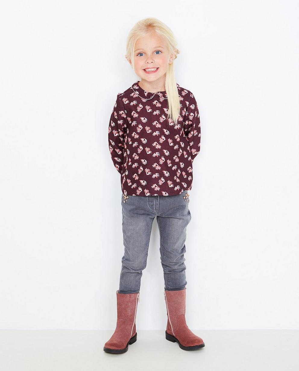 Purperen blouse met print - Hampton Bays - Hampton Bays